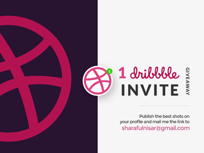 1 dribbble invite giveaway invite giveaway draft 3 invites design illustration invites dribbble invites giveaway invitation graphic art graphic design invite design icon design
