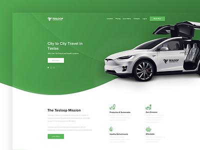 Tesloop - New Project developing tesloop digitalmix green clean simple marketing ux ui