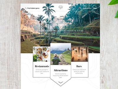 "Scoop (travel website for ""hidden gems"") airport traveler countries city restaurants world abroad explore adventure sketch ux travel"