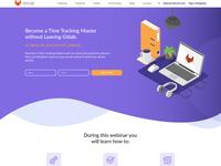 Gitlab Time Tracking Webinar Landing Page