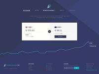 Money Exchange Landing Page