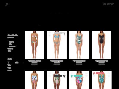 Baobab Swimwear Shop minimal illustration flat website web vector ux design ui ecommerce design shop
