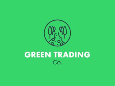 Green Trading Co. icon flat ux ui design logo illustration branding