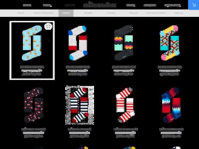 Minimal Sock Shop web minimal flat ux design ui web design website ecommerce shop socks