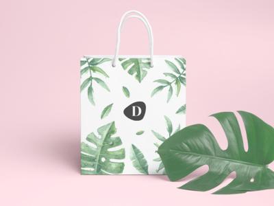 Dispensario Bags bag mockup minimal vector illustration ui bag