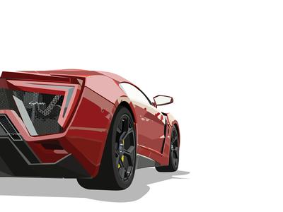 Lykan Hypersport design flat illustration hypersport lykan