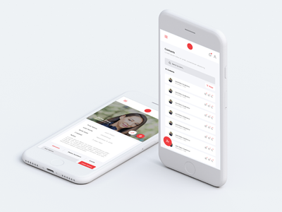 Simple Contact Manager flat minimal mobile app design contact manager manager contact ui ux design