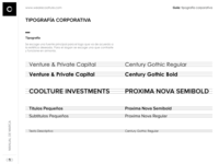Coolture Investments Typography