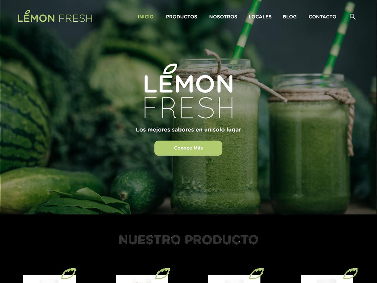 Lemon Fresh Landing Page juice food fresh vector website ux ui design