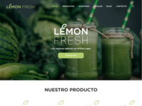 Lemon Fresh Landing Page