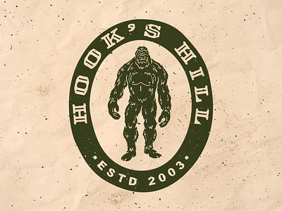 Ol' Sassy beast strong hairy cartoon emblem logo badge logo badgedesign badge sasquatch