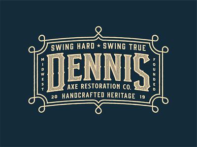 Dennis Axe vintage midwest wood lumberjack wild west western branding badgedesign badge logo ax axes axe