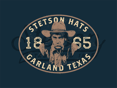 Sam Elliott x Stetson Hats badge design logo label badge branding character texas mustache cowboy hat cowboy stetson hats stetson