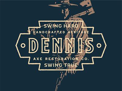 Dennis Axe Resto Co west western axe axes branding badge logo