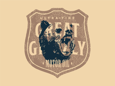 Great Grizzly bear grizzly bear branding badge logo
