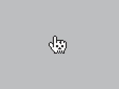 Skull Clicker character pixel art pixel dead mouseover logo skull
