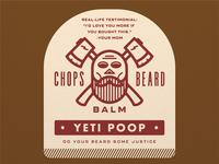 CHOPS Beard Balm - Yeti Poop