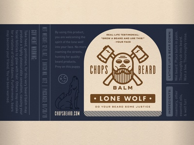 CHOPS Beard Balm - Lone Wolf Label