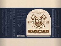 CHOPS Beard Balm - Lone Wolf Label