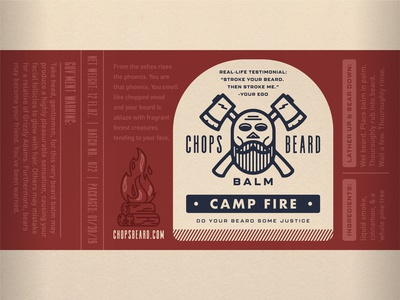 CHOPS Beard Balm - Camp Fire Label