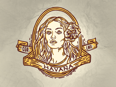Havana Face cuba havana sexy flower character lady smoke cigar lounge lounge cigar