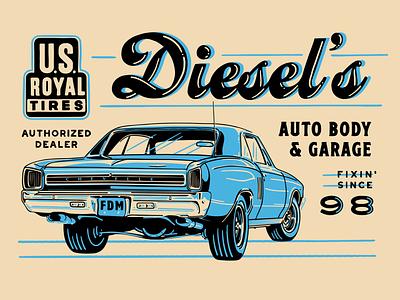 Chevy Chevelle body shop auto garage logo chevelle muscle car car chevrolet