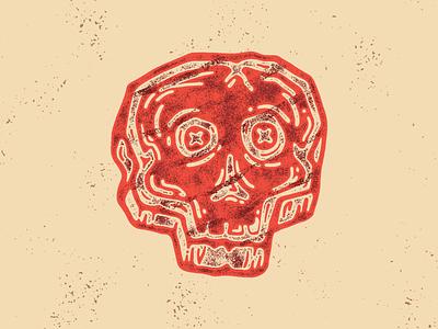 Seared to Death logo character skull meat steak