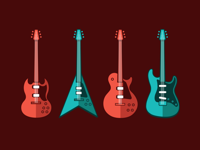Guitars guitars illustration