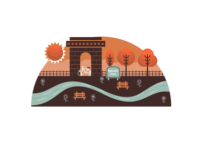 Park Illustration park illustration