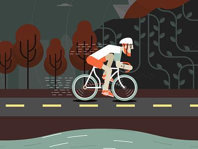 Cyclist cyclist illustration