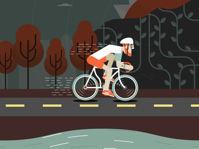 Cyclist cyclist illustration