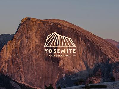 Yosemite Conservancy conservancy national park mountain line lines identity branding logo yosemite yosemitechallenge