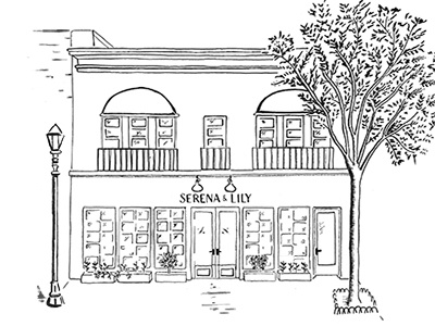 Summit NJ. Store drawing blk/wht