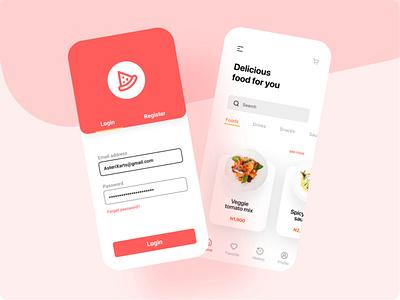 Food court app UI/UX فست فود سفارش غذا iran ux hossein mahmoodi ihmahmoodi asterixarts ui رابط کاربری app design fastfood food food app