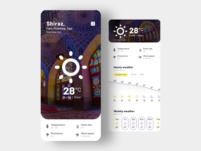XWeather - Weather Forecast App weather app weather widget mobile weather xweather iran ihmahmoodi asterixarts cloud shiraz clean app minimal dailyui uiux ux ui