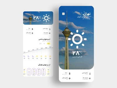 XWeather - Weather Forecast App dailyui ihmahmoodi asterixarts hossein mahmoodi iran رابط کاربری user interface ux uiux ui mobile app weather forecast weather app weather