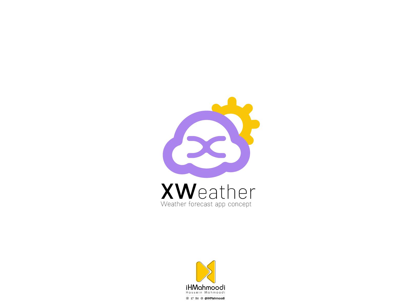 نمونهکار: رابط کاربری اپلیکیشن هواشناسی XWeather - لوگو