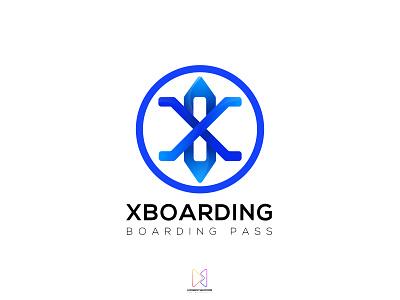XBoarding Logo - Boarding Pass ui asterixarts طراحی رابط کاربری لوگو hossein mahmoodi ihmahmoodi کارت سوار شدن به هواپیما بلیط هواپیما minimal clean dailylogochallenge airplane ticket ticket booking daily ui boarding pass xboarding