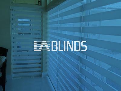 LA blinds shutter curtain windows blinds branding brand logo