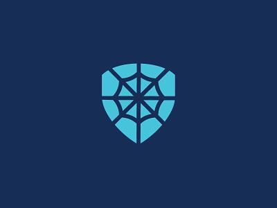 Web Shield combine simple website shield web brand logo