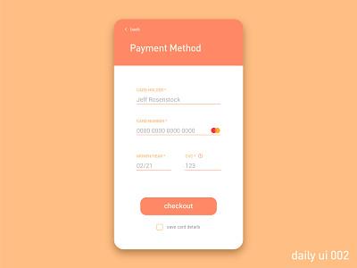 Daily UI Challenge #002 - Credit Card Checkout app ui design vector dailyui 002 dailyui ux