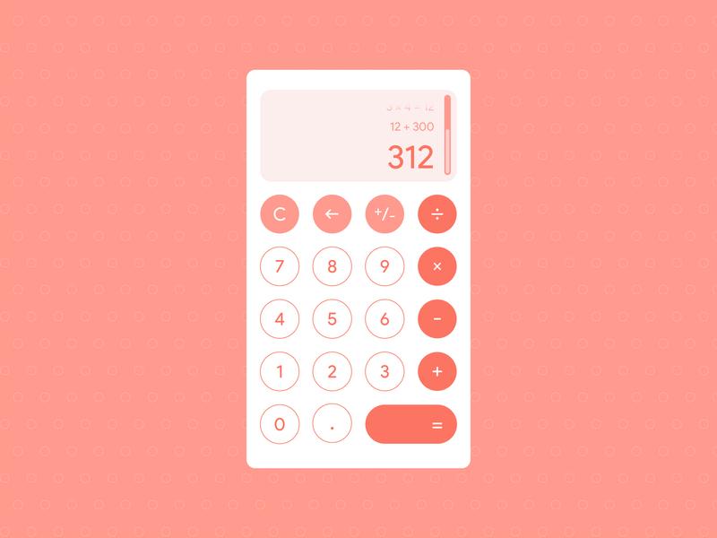 Daily UI Challenge #004 - Calculator daily 100 challenge dailyui 004 app vector ui ux design dailyui