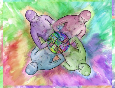 Group Love zine polyamory lgbt colorful illustration