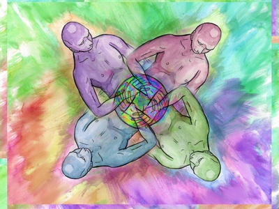 Group Love zine polyamory lgbt colorful illustration