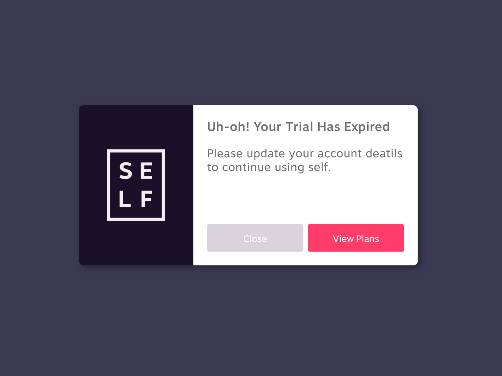 App Pop Up Error Message Search By Muzli