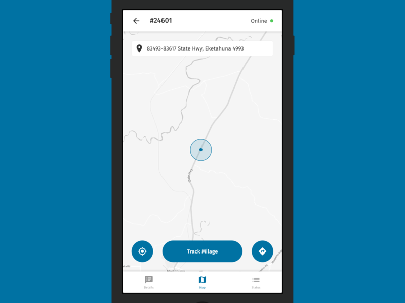 Ct Power Outage Map Ui.Remote Vehicle Field Service App Map By Lucas Woolf Dribbble