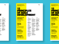 Poster · 12 Principles of Agile Development