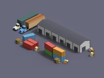 Isometric Freight Yard