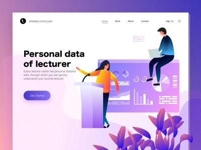 Personal data of lecturer financial girl boy illustration