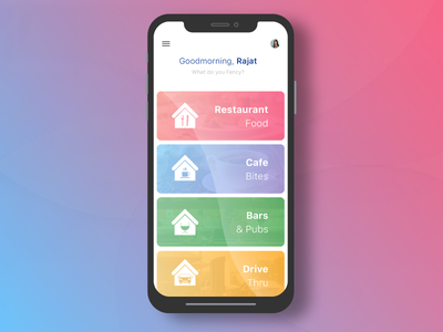 Fresh cute android application home view screen rajat mehra designs free dribbble resource iphone wireframe custom logo designs food ordering application mobile device user experience mobile material design iphone flat application ios app design